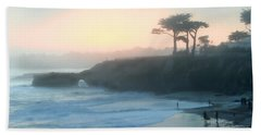 Misty Santa Cruz Beach Towel by Art Block Collections