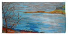 Beach Sheet featuring the painting Misty Surry by Francine Frank