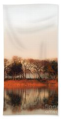 Misty Winter's Morning Beach Towel