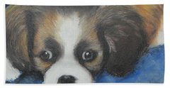 Beach Towel featuring the painting Mitzy by Jeanne Fischer