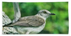 Mockingbird Pose Beach Towel by Deborah Benoit