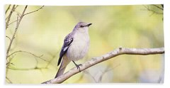 Mockingbird Beach Towel by Scott Pellegrin