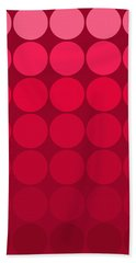 mod pop Mid Century circles pink to red Beach Towel