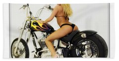 Models And Motorcycles_k Beach Towel