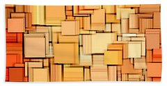Modern Abstract Xvi Beach Towel by Lourry Legarde