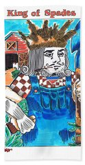 Modern King O' Spades Beach Sheet by Seth Weaver