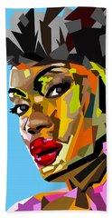 Beach Towel featuring the digital art Modern Woman by Anthony Mwangi