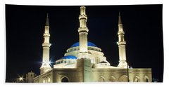 Mohammad Al-amin Mosque In Beirut Lebanon Beach Towel