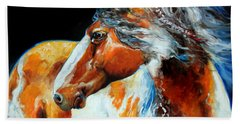 Mohican The Indian War Pony Beach Towel