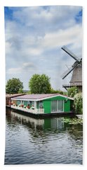 Molen Van Sloten And River Beach Towel