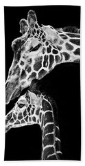 Mom And Baby Giraffe  Beach Towel by Adam Romanowicz