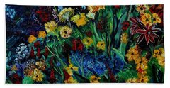 Moms Garden II Beach Sheet by Julie Brugh Riffey