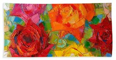 Mon Amour La Rose Beach Towel