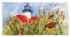 Monarch Butterflies At East Point Light Beach Towel