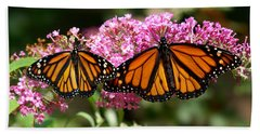 Monarch Butterflies Beach Towel