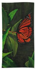 Viceroy Butterfly Oil Painting Beach Towel