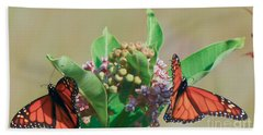 Beach Sheet featuring the photograph Monarch Gathering by Kerri Farley