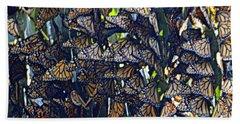 Monarch Mosaic Beach Towel by AJ  Schibig
