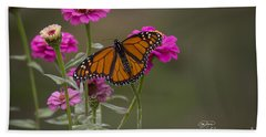 Monarch Pit Stop Beach Towel