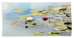 Beach Towel featuring the photograph Monet's Garden by Brooke T Ryan