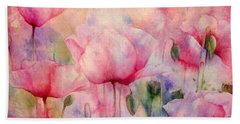 Monet's Poppies Vintage Warmth Beach Towel