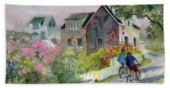 Monhegan In August Beach Towel