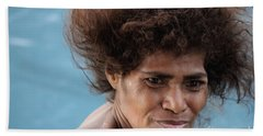 Monica From Papua New Guinea Beach Sheet