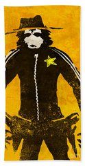 Monkey Sheriff Beach Towel