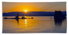 Mono Lake Sunrise Beach Towel