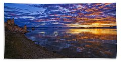 Beach Sheet featuring the photograph Mono Lake Sunrise by Priscilla Burgers
