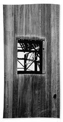 Beach Towel featuring the photograph Monroe Co. Michigan Barn Window by Daniel Thompson