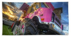 Monster Ice Cream Truck Beach Sheet
