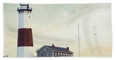 Montauk Dusk Beach Towel by Keith Armstrong