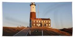 Montauk Lighthouse Entrance Beach Sheet by John Telfer