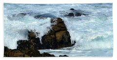 Beach Towel featuring the photograph Monterey-2 by Dean Ferreira