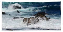 Beach Towel featuring the photograph Monterey-6 by Dean Ferreira