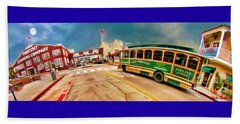 Monterey And Cable Car Bus Beach Towel