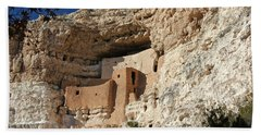 Beach Towel featuring the photograph Montezuma Castle by Penny Meyers
