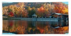 Montreat Autumn Beach Towel by Lydia Holly