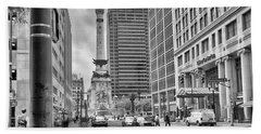 Beach Towel featuring the photograph Monument Circle by Howard Salmon