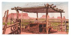 Monument Valley Overlook Beach Towel by Mike Robles