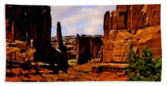 Monument Valley Painting Beach Towel