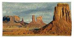 Beach Towel featuring the painting Monumental by Jeff Kolker
