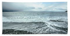 Moody Waves French Beach Beach Towel