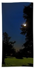 Beach Towel featuring the photograph Moon And Pegasus by Greg Reed