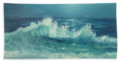 Moon Beach Painting Beach Towel
