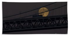 Beach Towel featuring the photograph Moon Bridge Bus by Kate Brown