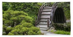 Moon Bridge - Japanese Tea Garden Beach Towel by Adam Romanowicz