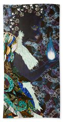 Moon Guardian - The Keeper Of The Universe Beach Towel by Apanaki Temitayo M