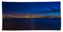 Moon Over San Francisco Bay Beach Towel